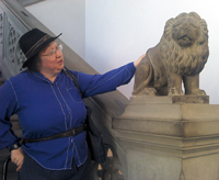 Jo Walton with Lion